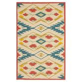 Found it at Wayfair - Four Seasons Yellow & Blue Outdoor/Indoor Area Rug