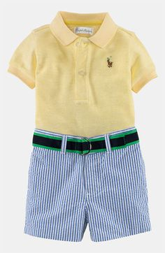 92c4e5bdd Ralph Lauren Polo & Shorts (Baby) available at #Nordstrom Preppy Baby  Boy