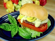 Spicy Sicilian Burger with Basil Mayo | A Palatable Pastime
