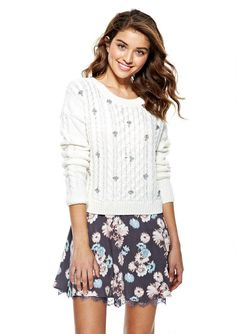 Pin for Later: Terrible News, '90s Teens: Delia's Will Soon Be Gone FoReVeR Floral Lace Peek-A-Boo Skirt Seemingly straight out of a scene from Clueless, this floral skirt ($35) would work now as well as it'd work back in high school.
