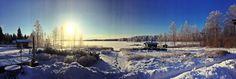 Näkymä kehittämisen lomassa. Satulinna, Hirvensalmi. Tammikuu 2015.