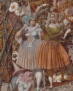 """The Fairy Feller's Master-Stroke (detail), Richard Dadd, c. 1865. Tate Gallery.   It was given to the Tate Gallery in 1963 by the first world war poet Siegfried Sassoon. He got it as a wedding present from the Dadd family, whose sons were close friends of his. He made the gift to the Tate """"in memory of his friend and fellow officer Julian Dadd, a great-nephew of the artist, and of his two brothers who gave their lives in the first world war""""."""