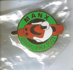 Manx Grand Prix badge 2001 tt races.