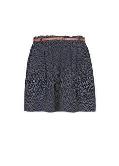 MANGO - Minifalda estampado puntos