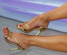 Strappy High Heels, Sandal Heels, Stiletto Heels, Sexy Legs And Heels, Hot Heels, Senior Photos Girls, Feet Nails, Gorgeous Feet, Sexy Toes