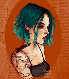 Blue hair by Gretlusky.deviantart.com on @DeviantArt