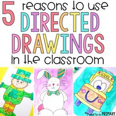 Every teacher should be using directed drawings for kids in the classroom! Find out why and get tutorials and directed drawing resources (FREE ones included).