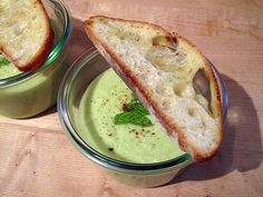 chilled cucumber soup - This is so delicious. It is actually the first cold soup I've ever enjoyed! Will make again!