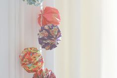 DIY Origami Mini Lanterns #fave