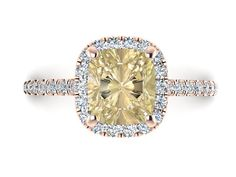 Diamond Engagement Ring, Natural Diamond Wedding Ring, Not Treated Genuine Green Diamond Wedding Ring, Diamond Halo Cushion Shape Ring by BridalRings on Etsy https://www.etsy.com/listing/466232724/diamond-engagement-ring-natural-diamond