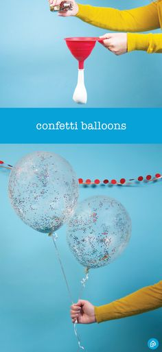 Graduation season. Party season. It's all right around the corner! For a fun way to celebrate, create these colorful confetti balloons. All you need is a few clear balloons and confetti!