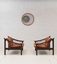 Vintage Amazonas armchairs by Brazilian designer Gean Jillon. Available at Espasso.