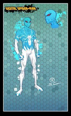 Digital spider-man design by JoeyVazquez on DeviantArt