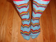 Ravelry: KnitWitKat's Rainbow Socks