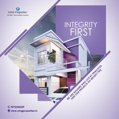 Builders and Property Developers in Palakkad, Kerala - OMG Properties Creative Poster Design, Creative Posters, Creative Flyers, Real Estate Banner, Real Estate Flyers, Web Design, Layout Design, Real Estate Advertising, Advertising Design
