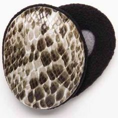 Brown Faux Snakeskin Earbags Want the latest styles to keep your ears cozy? then…