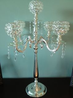 10 Gorgeous Crystal Votive Candelabra Centerpieces | Recycled Bride