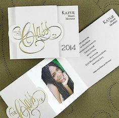 diy graduation invitations or announcements this is very simple