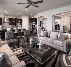 Open concept living room by Maracay Homes