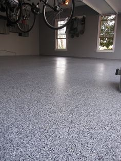 The stunning look of terrazzo at an affordable cost. Learn more about epoxy garage floors, call Decorative Concrete Resurfacing 715 Debula Dr Ballwin, MO 63021 Garage Floor Coatings, Garage Floor Epoxy, Smooth Concrete, Polished Concrete, Concrete Resurfacing, Concrete Floors, Concrete Stairs, Epoxy Floor Paint, Basement Flooring
