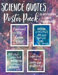 Science Quotes Poster Pack on Watercolor Galaxy! Classroom Science Posters and Decor! Space Theme Classroom, Science Classroom Decorations, Classroom Quotes, Classroom Design, Teacher Quotes, Classroom Décor, Teacher Humor, Future Classroom, Biology Classroom