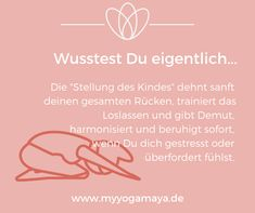 """Effects of Child Position (Balasana) - Yogamaya-Wirkungen der Stellung des Kindes (Balasana) – Yogamaya That is why you practice the """"position of the child"""" in yoga and how it works – physically, mentally and energetically! Ashtanga Vinyasa Yoga, Iyengar Yoga, Yoga Positionen, Yin Yoga, Yoga Meditation, Pilates Abs, Pilates Workout, Pilates Reformer, Pilates Studio"""