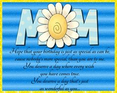 Send this quaint birthday card to your mom on her special day. Free online Birthday Wishes For Mom ecards on Birthday Birthday Wishes For Mom, Birthday Hug, Birthday Songs, Very Happy Birthday, Birthday Cards, Happy Panda, Colorful Birthday, Special Flowers, Wishes For You