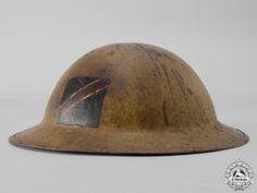 A First War Mark II Royal Canadian Dragoons Helmet   eMedals