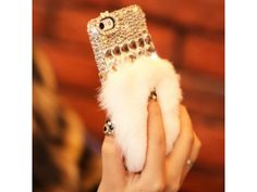Crystal Fluffy iPhone 5/5S Case (White)
