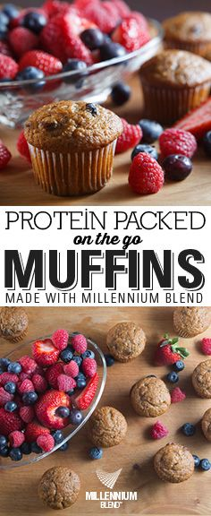 Ingredients:  ½ cup coconut or almond flour  1.5 scoops Millennium Blend Vanilla Protein Powder  1 ½ tsp baking powder  1 ½ tsp ground cinnamon  ¼ tsp ground nutmeg  ¼ tsp salt  1 tbsp coconut oil or unsalted butter, melted and cooled slightly  2 large egg whites, room temperature  ½ cup plain Greek yogurt  2 tbsp maple syrup  ½ cup unsweetened almond or cashew milk  2 tbsp water  1 cup peeled and freshly grated carrots Protein Muffins, Cashew Milk, Protein Packed Breakfast, Vanilla Protein Powder, Plain Greek Yogurt, Ground Cinnamon, Large Egg, Egg Whites, Unsalted Butter
