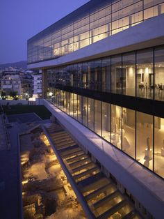Completed in 2009 in Athens, Greece. Site Located in the historic of Makryianni district, the Museum stands less than feet southeast of the Parthenon. The top-floor Parthenon. Acropolis, Parthenon, Kusadasi, Santorini, Bernard Tschumi, Museum Studies, Greek Isles, Athens Greece, Archaeological Site