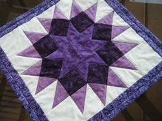 Your place to buy and sell all things handmade Jellyroll Quilts, Rag Quilt, Easy Quilts, Quilt Blocks, Hand Quilting Patterns, Patchwork Quilt Patterns, Free Motion Quilting, Purple Quilts, Quilted Table Toppers