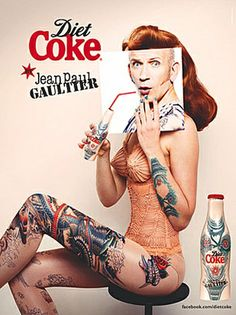 Jean Paul Gaultier Introduces His Third Limited Edition Diet Coke 'Tattoo' Bottle