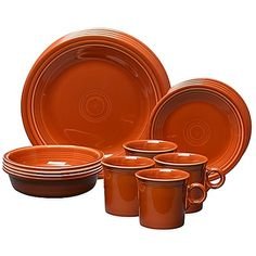 FIESTA 16-Piece Dinnerware Set Service For 4 Paprika $99.95 FREE SHIPPING - LOWEST PRICE  sc 1 st  Pinterest & FIESTA 16-Piece Dinnerware Set Service For 4 Poppy $99.95 FREE ...