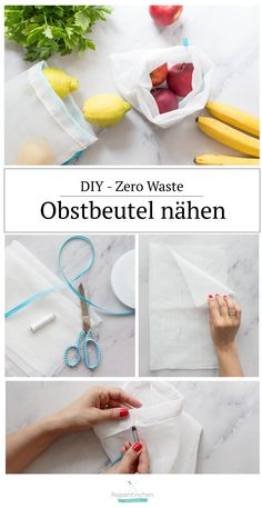 Zero Waste – Obstbeutel nähen, Plastik sparen How to avoid plastic waste ? It definitely makes things a whole lot easier with these super fast sewn fruit bags. Diy Kitchen Projects, Diy Craft Projects, Sewing Projects, Upcycled Crafts, Diy Crafts To Sell, Sewing Hacks, Sewing Tutorials, Sewing Patterns, Sewing Tips