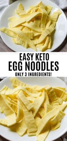 Keto Egg Noodles made with almond flour. These are the perfect low carb pasta substitute to add to your meal plan. This is also a great recipe for the keto egg fast!