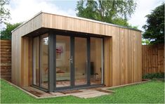 Click to close image, click und drag to move. Use ARROW keys for previous and next. Yard Sheds, Prefab Cabins, Garden Office, Building A Shed, Image House, Interior And Exterior, Outdoor Structures, Wood, Studio Ideas