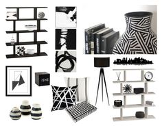 Contemporary Black & White Living Space by Countryside Amish Furniture
