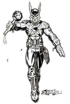 Hawkman Inks2 by Drigo77