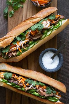 Lemongrass Steak Banh Mi Sandwich