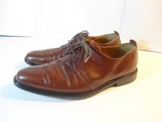 Men's Cole Hann Dress Shoes Stitch Toe Oxfords Brown Leather sz. 9.5 M SAVE $ #ColeHaan #Oxfords