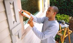 Most of us have had at least one caulking project in our lifetime, and maybe you have had many. Depending on the size of the job, they can be a huge pain and cost a little bit of finger skin:) He. Energy Saving Tips, Save Energy, Caulking Tips, Home Maintenance Checklist, Real Estate Tips, Home Repair, Home Improvement Projects, A Table, Home Remodeling