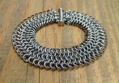 Men or Women Stainless Steel Chainmaille Bracelet by Faroutmaille