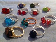 More wire wrapped rings.