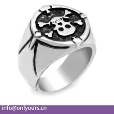 2017 most popular products stainless steel skull ring for gift