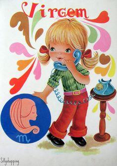 Vintage Big Eyed Girl Postcard | Sillyshopping | Flickr