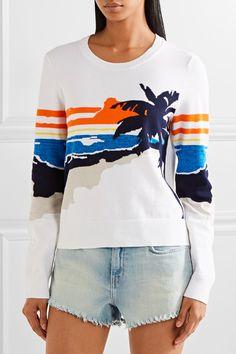 rag & bone   Nicki stretch-cotton intarsia sweater   NET-A-PORTER.COM