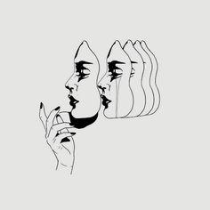 illustration art black and white ~ illustration art ; illustration art black and white ; Art And Illustration, Animal Illustrations, Watercolor Illustration, Art Drawings Sketches, Tattoo Drawings, Dark Art, Art Inspo, Line Art, Artsy
