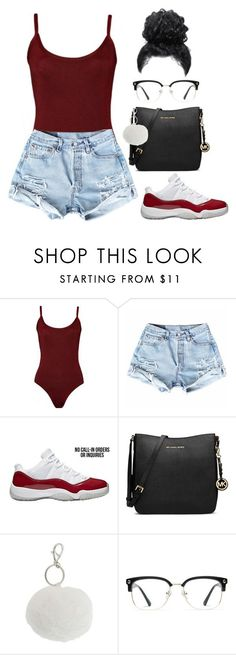 """Untitled #115"" by amaiah14 ❤ liked on Polyvore featuring MICHAEL Michael Kors, Lipsy and GlassesUSA"