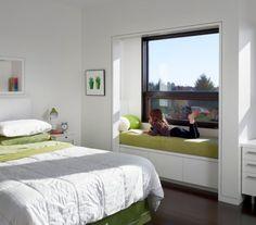 Reading nook in a contemporary bedroom